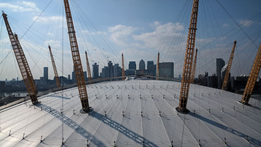 Another amazing view of the O2 - you will be in the first building next to the O2!