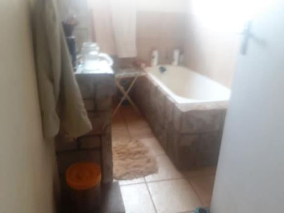 Bath and shower and toilet