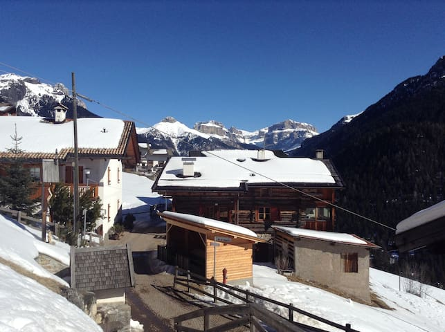 View of the outside, Sella Group in background