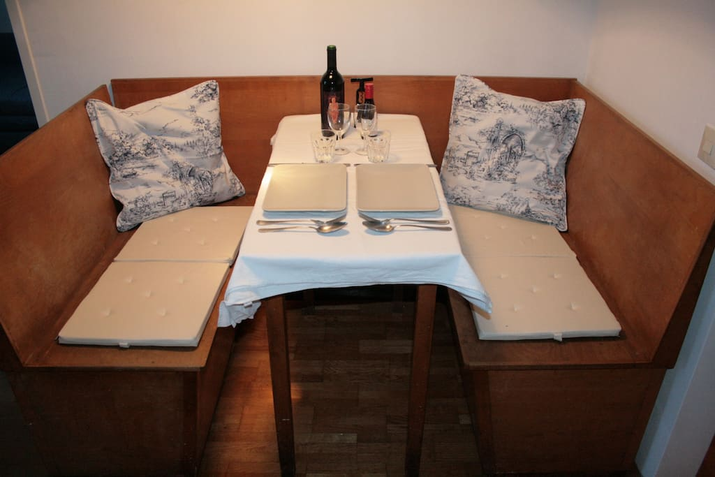 have some friends for dinner or enjoy the cosy corner alone or with your partner