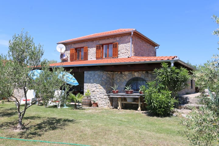 Traditional stone house in heart of the island Krk