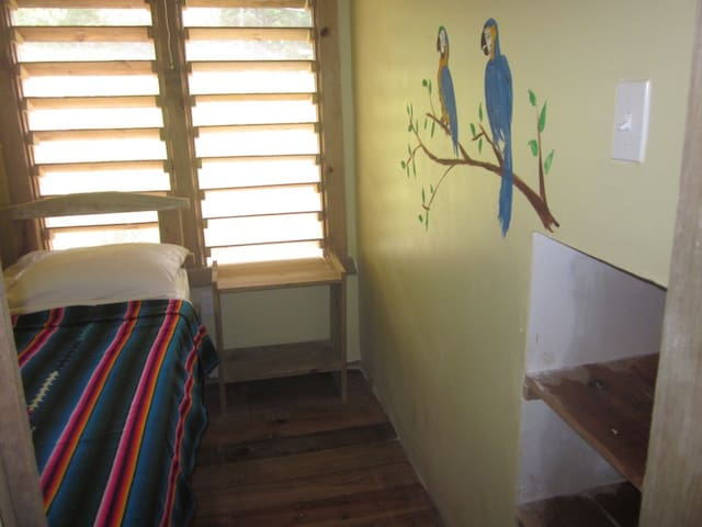 Single loft room in Roatan hostel