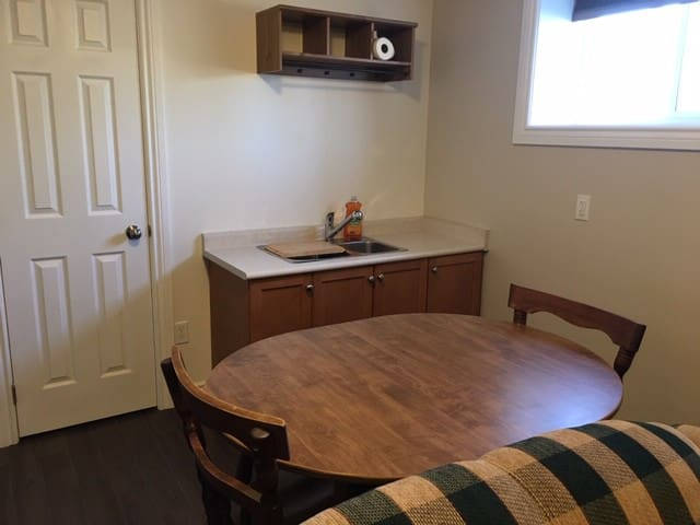 Table and Kitchen Sink