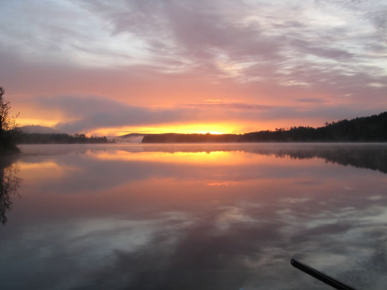 Sunrise from the dock, this is why you will keep on coming back