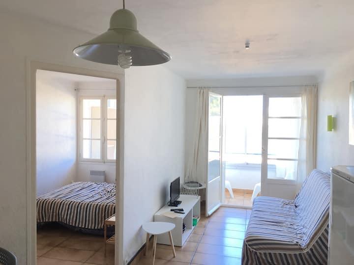 Appartement au Racou à 100 mètres de la plage