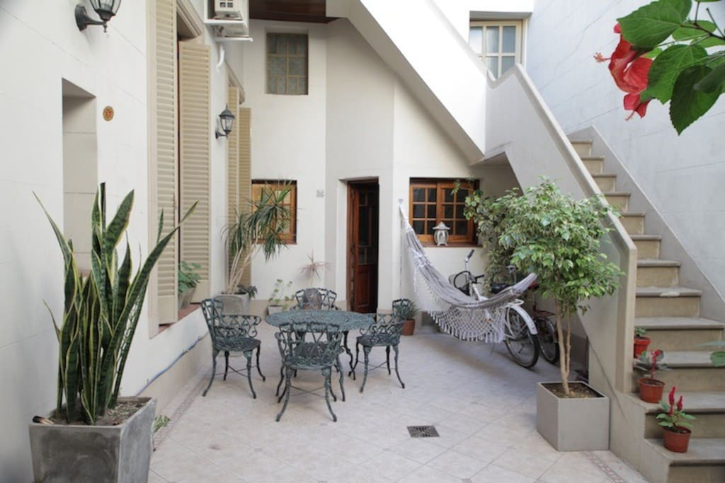 The Patio  communicates the kitchen, living room, main dorm and the laundry.
