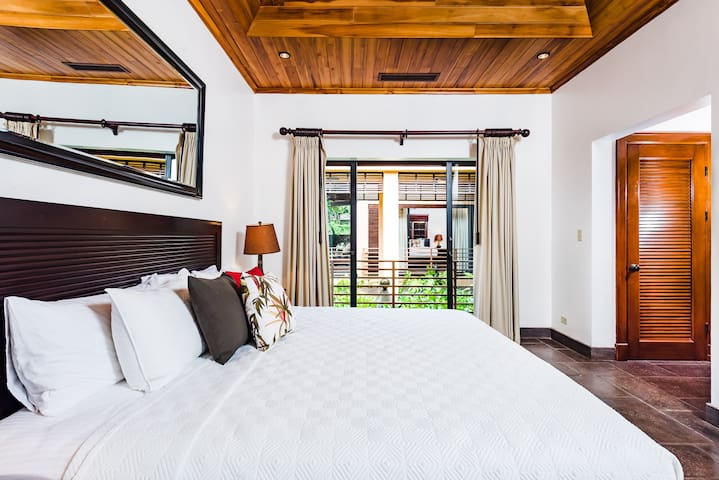 Ziplining, swimming, surfing must get you tired. 3 of the bedrooms have King beds