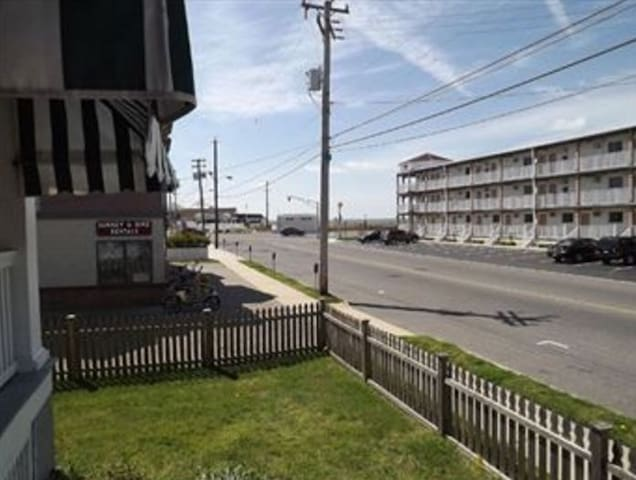 Enjoy a view of the Atlantic Ocean and the Cape May promenade from the bungalow