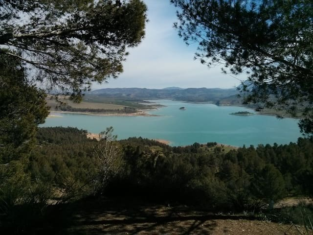 Flamingo Lake, Antequera, Malaga,Andalusia, Spain.