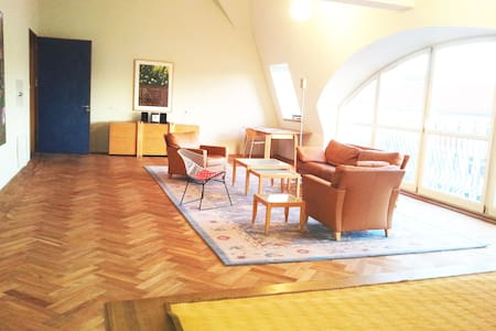 registered, legal hughe penthouse for 1-2 families - Berlin - Apartament