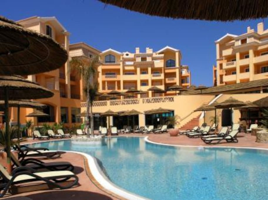 Spacious children-only pool area, with access to smaller outdoor pool for toddlers