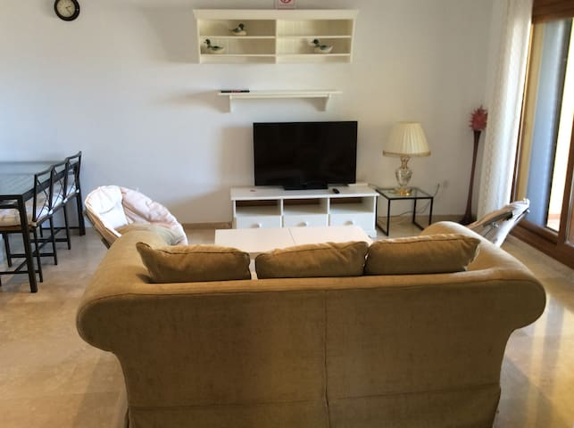 A cozy two bedroom apartment on the golf resort