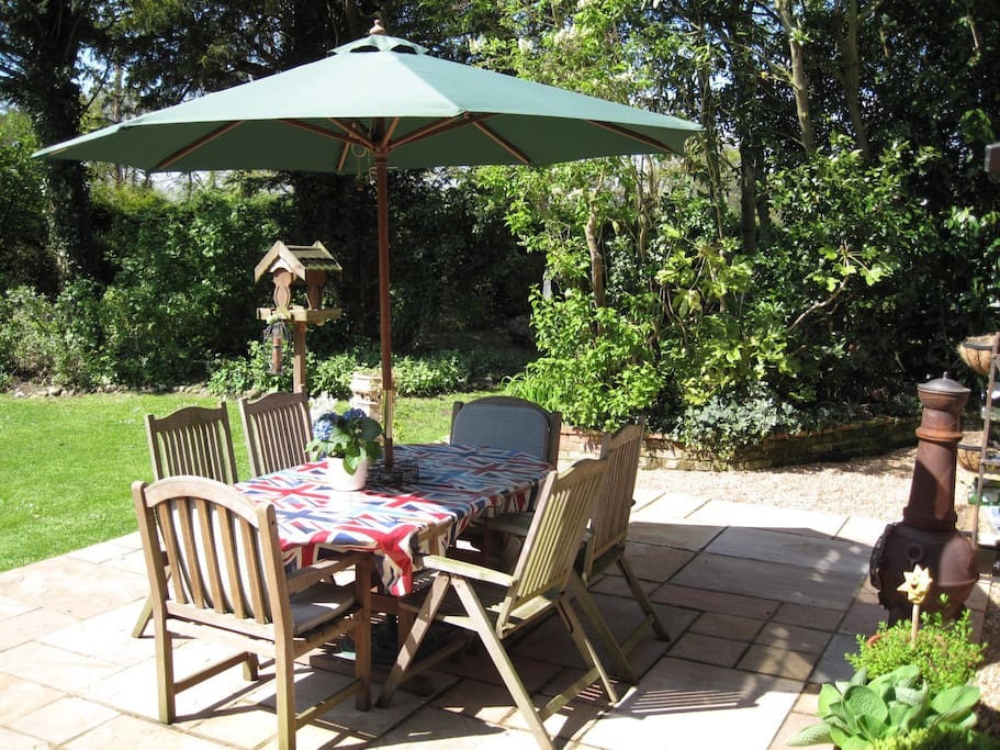 Suntrap Patio for al fresco meals and relaxation
