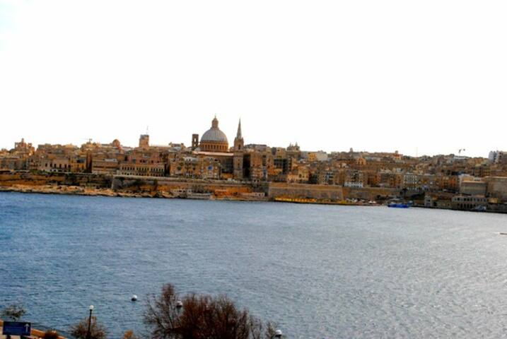 The area just 1 minute away! Valletta, our city