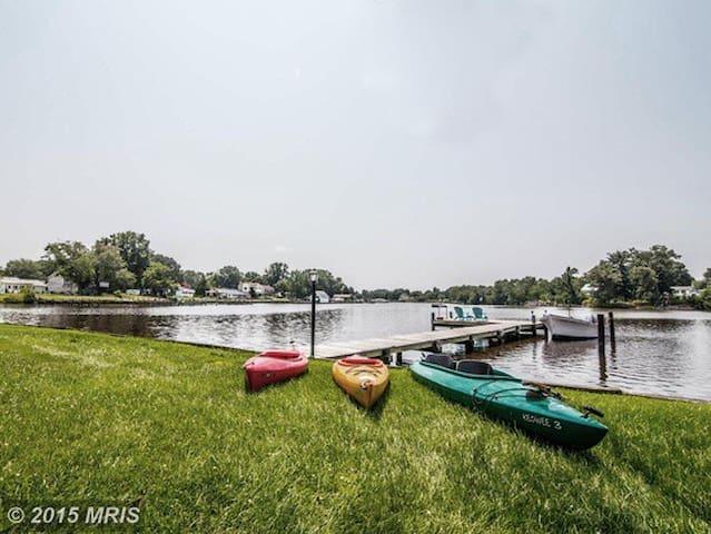 Chesapeake Waterfront Retreat w/kayaks and dock
