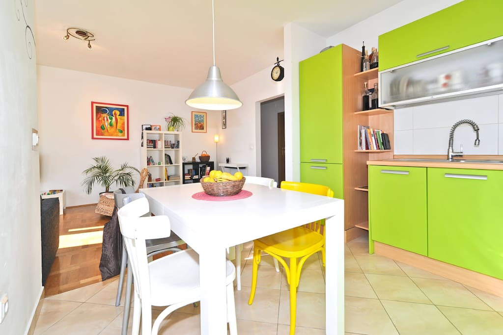 Colorful kitchen to start a day with a smile:)