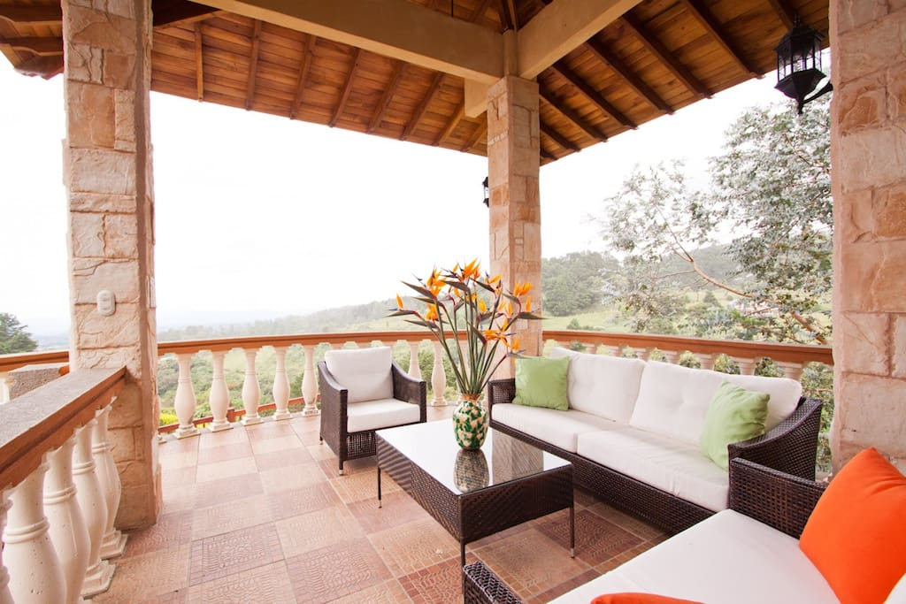 Large Balcony for incredible views of nature and sunsets