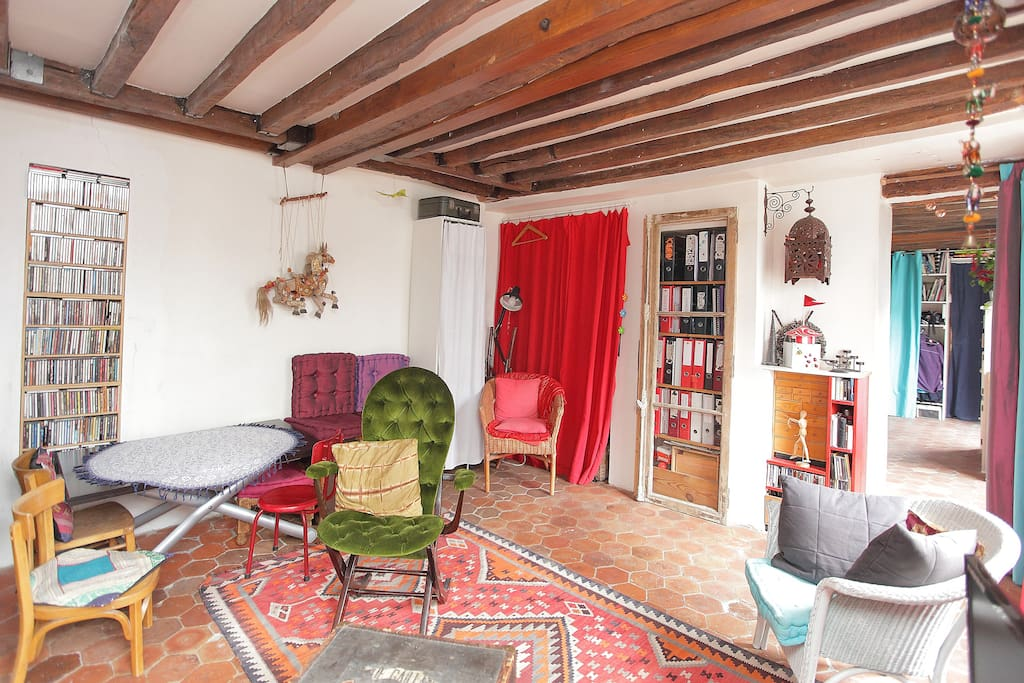 living room from caoch