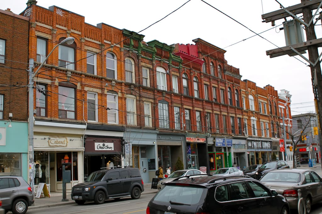 Stay high above a shop and explore the awesome queen west neighbourhood!