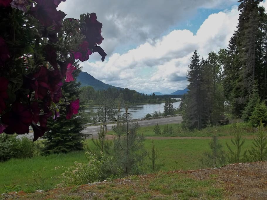 View from cabin of the Clark Fork River