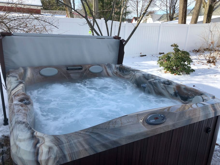 Relax your muscles after a day of skiing or hiking in our hot tub! Seats 4-5 adults!