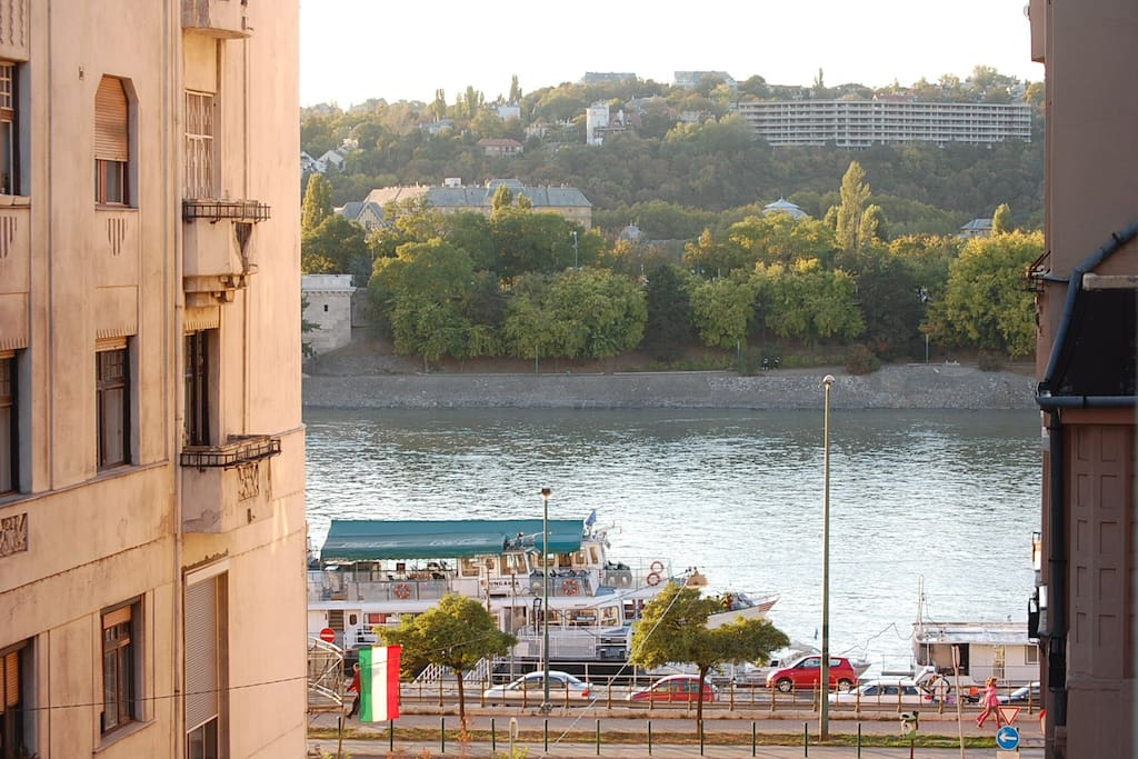 Great view from the apartment over Danube river , 5 min walk to Parliament, central location