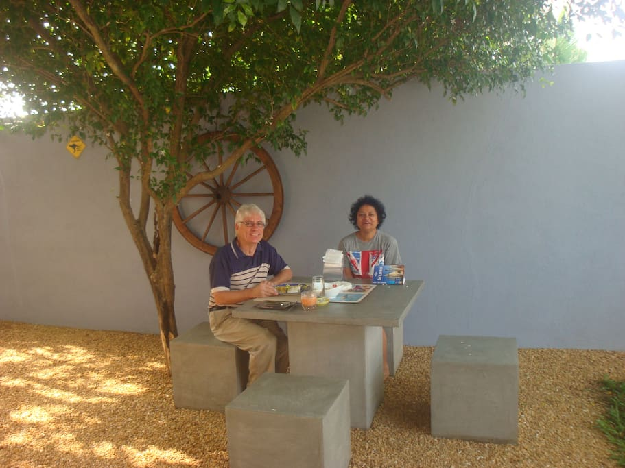 My guests love to have their meals in my Garden... Great Hospitality & personalized service..