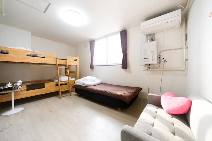 Triple room for LCC users (with bathroom)