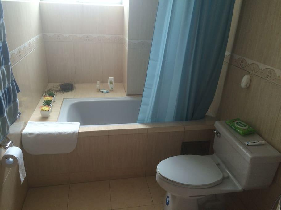 Bano espacioso con ducha