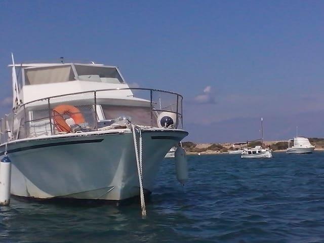 Formentera bateau 9.60 m sur amarre prive