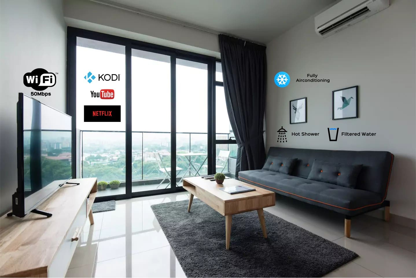 5 stars amenities with KLCC view.