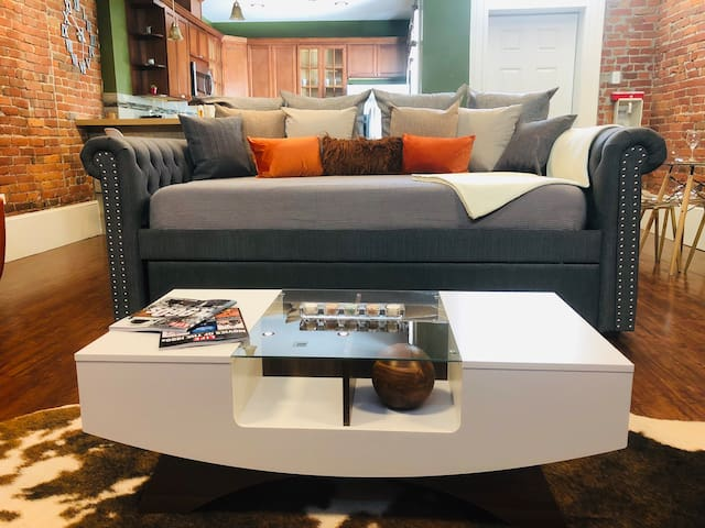 Coffee table plus SUPER couch
