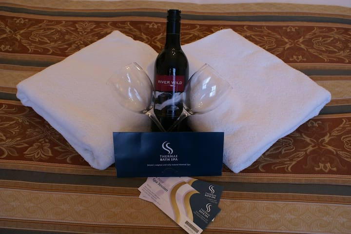 Buy your spa tickets from us, stay two nights and have a bottle of wine on us.