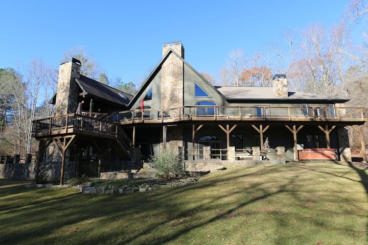 Luxury River Lodge on the Toccoa River! - Blue Ridge - Huis