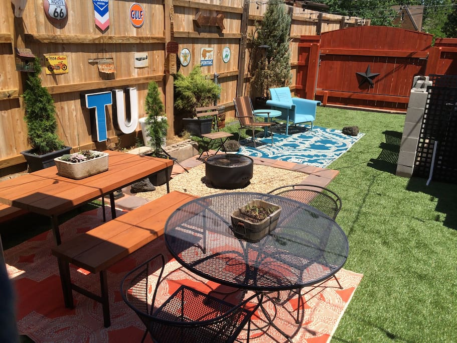 Patio and fire pit area. Great place to hang out on a nice sunny day!