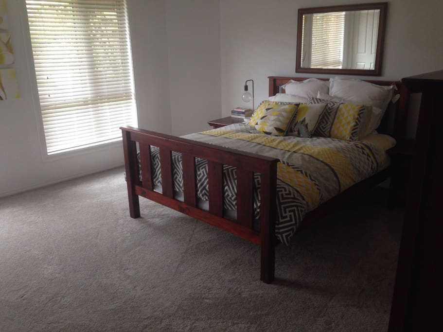 Main room with queen bed and ensuite