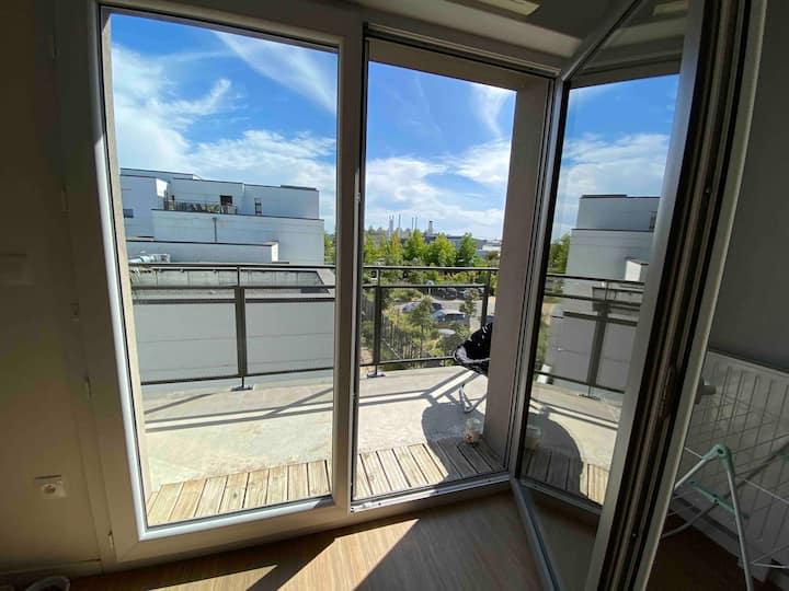 Appartement T3, tram à 50m. 5 min terra botanica
