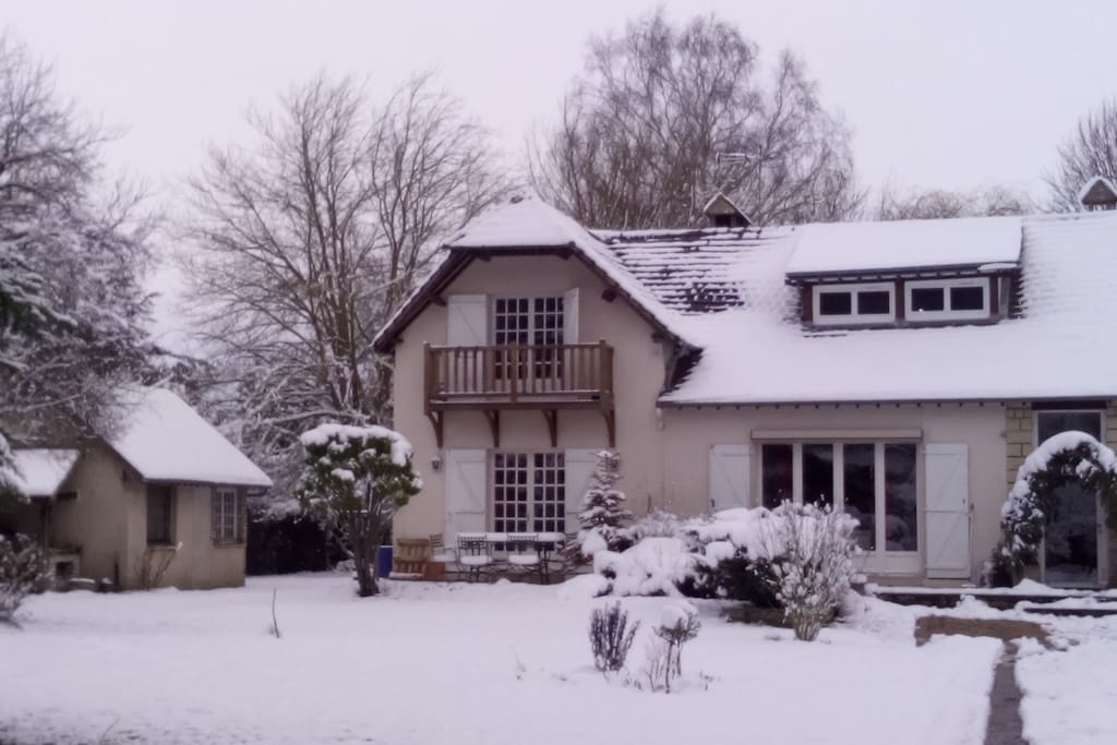Maison sous son manteau blanc. Février 2018