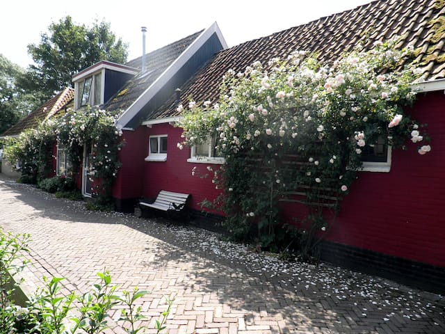 Old, romantic house just at IJsselmeer lake