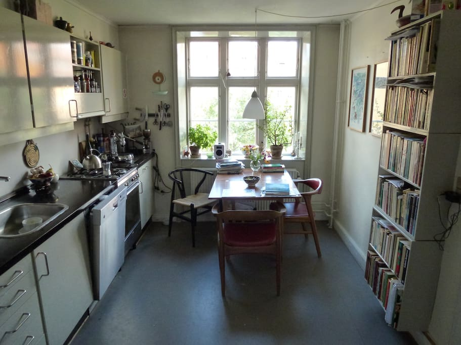 Kitchen view - the central place in my house....