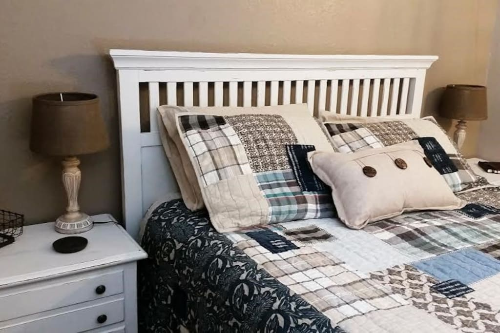 New, cozy bedding with down comforter