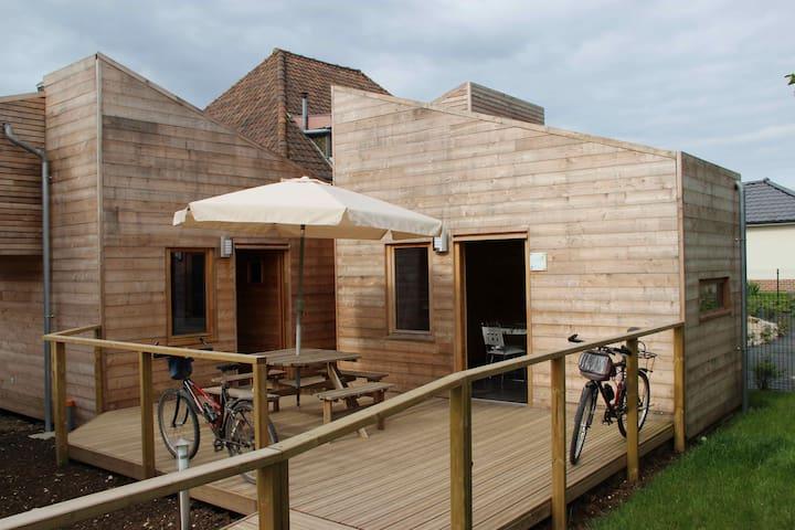 Ecolodge Argent à Fiefs - Fiefs - Maan sisään rakennettu talo
