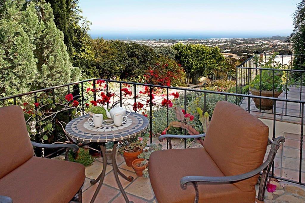Front Patio View of Santa Barbara