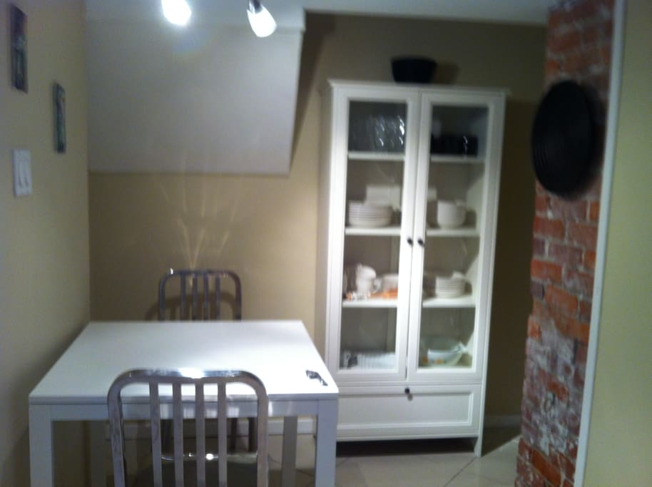 dining nook in the kitchen.
