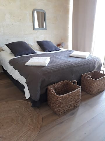 2ème chambre avec 2 lits de 0,90 pouvant être rapprochés