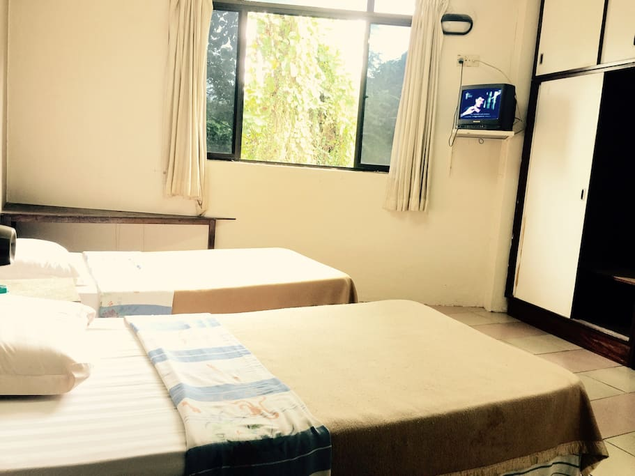 Standard room RM 59 for 2 pax - 2 single beds, air conditioner, one bathroom with water heater, television