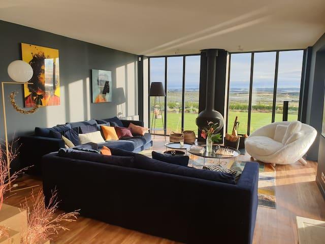 Villa Design,de Luxe,vue Bréhat,Piscine Chauffée