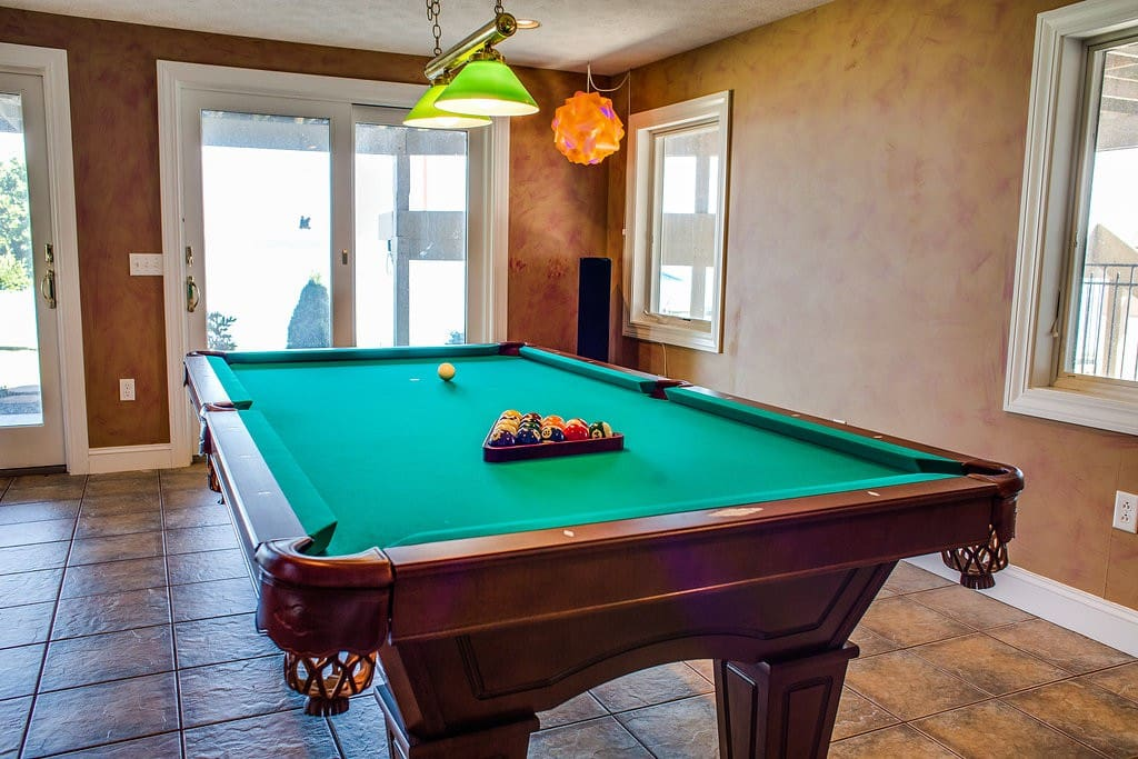 Enjoy a game of pool on a rainy day