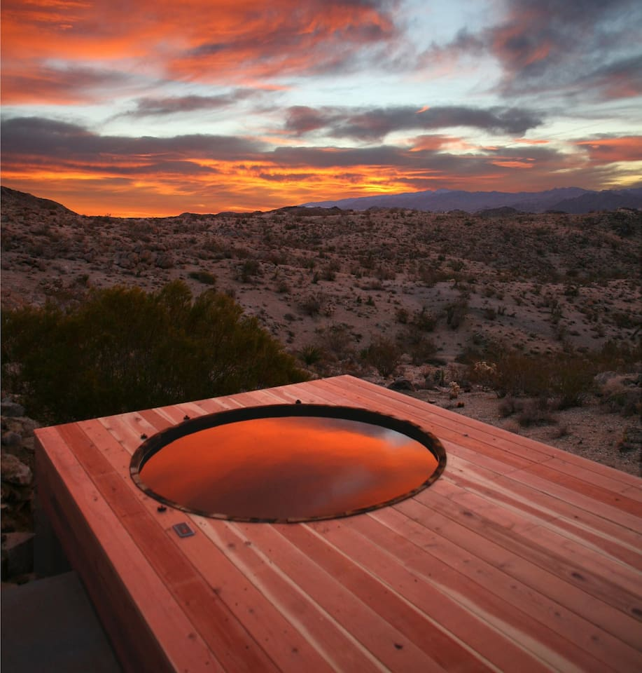 Sunrise with view of Joshua Tree Park