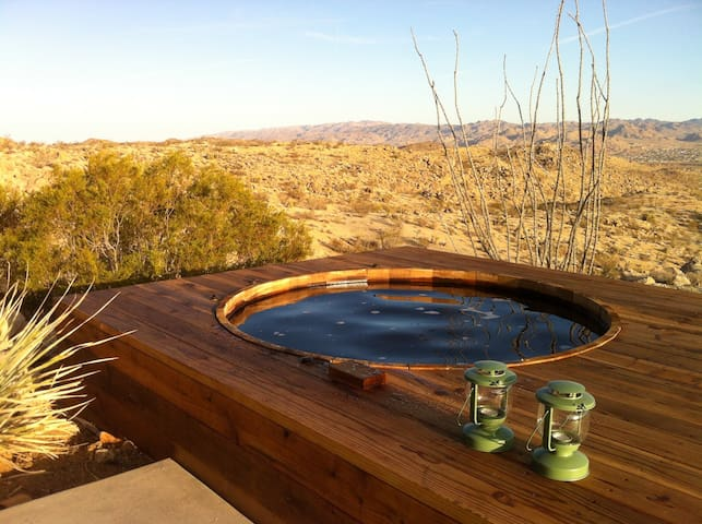 Large 6' diameter cedar hot tub. Or a place to cool off in the summer.